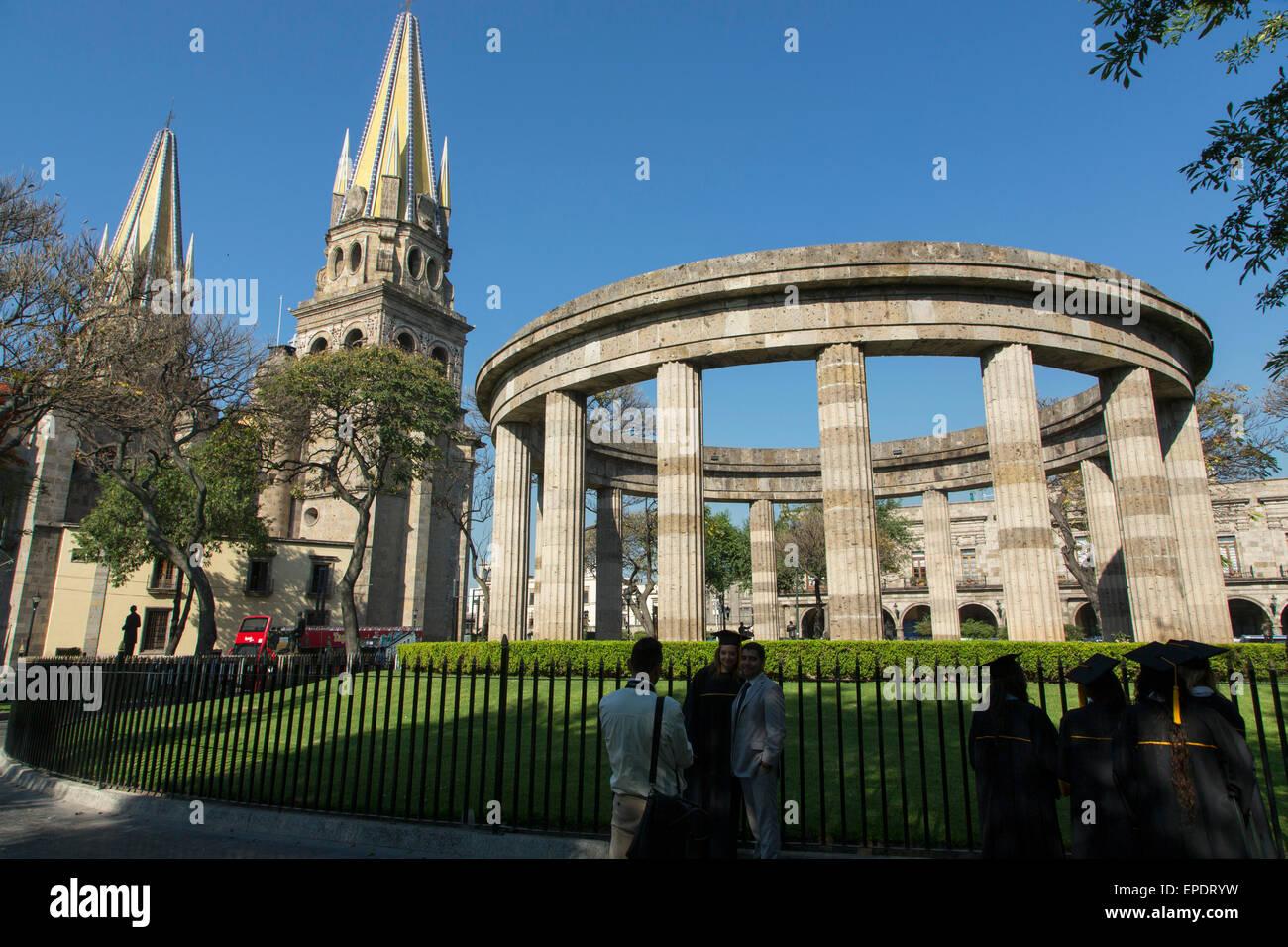 Rotonda de personas ilustres de Jalisco, Guadalajara, Jalisco, México Foto de stock