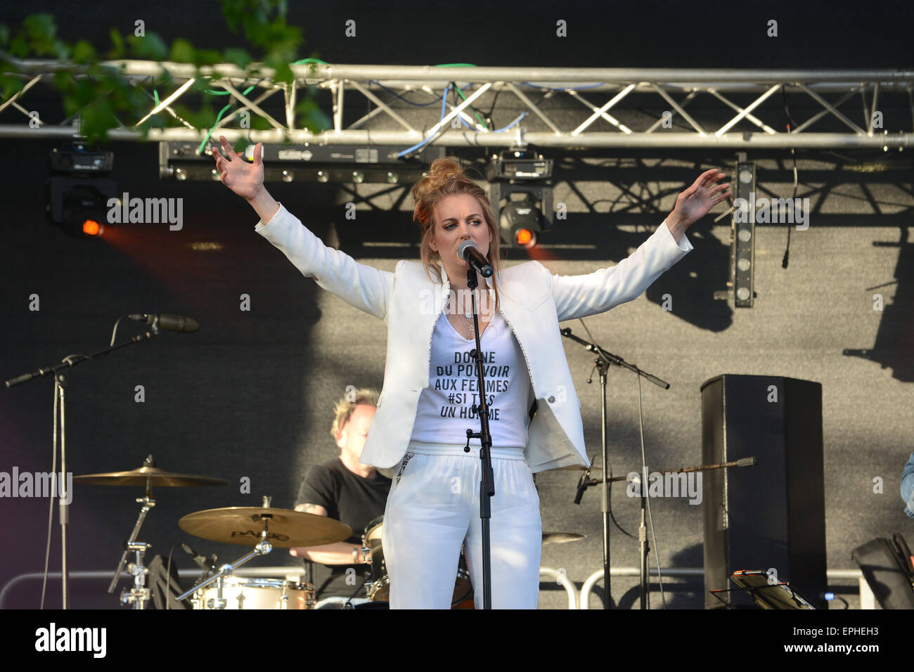 Jo Harman cantante Dart Music Festival en Dartmouth Devon Uk 2015 Imagen De Stock