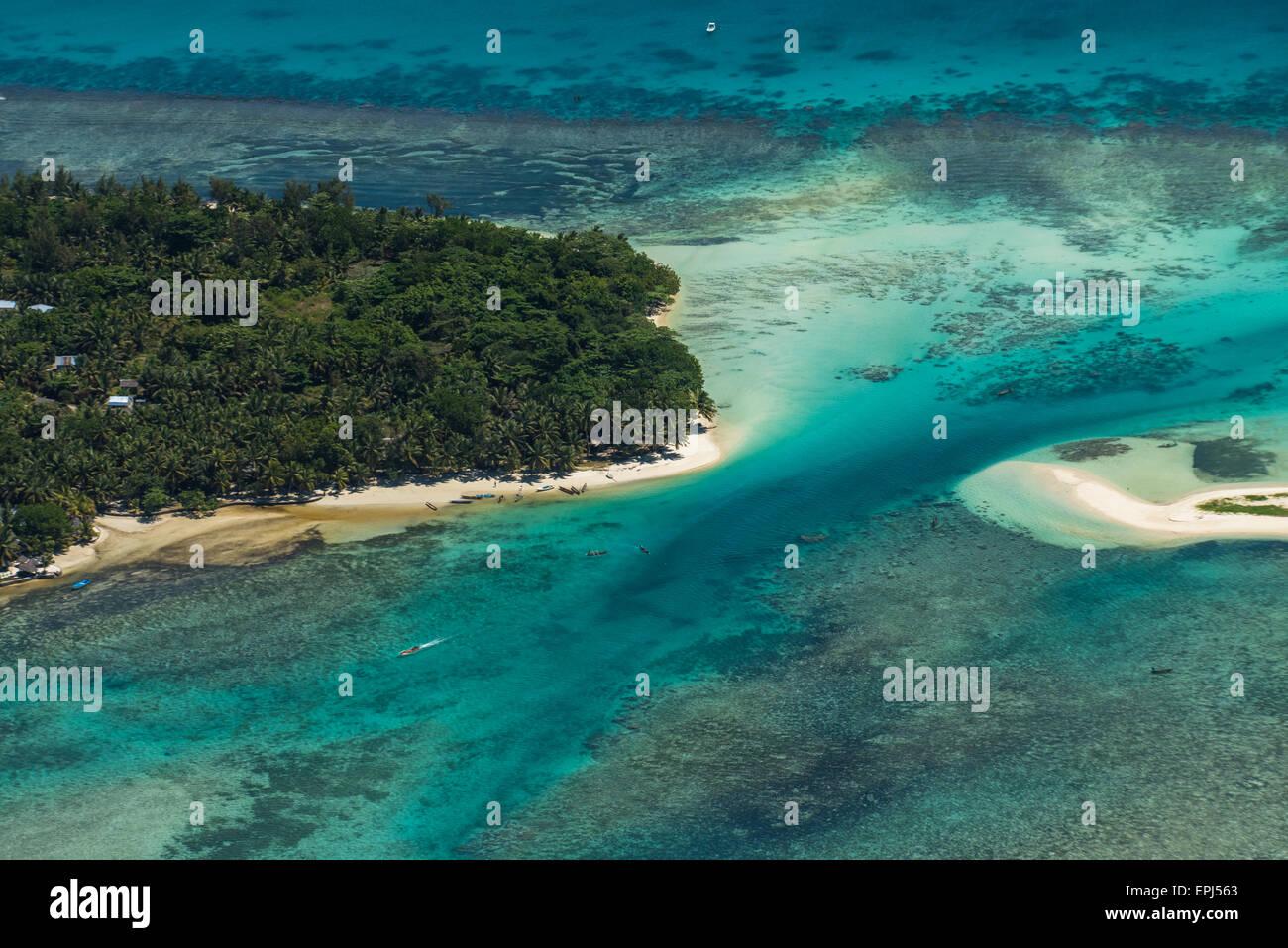 Vista aérea de Sainte Marie Island, Madagascar Imagen De Stock