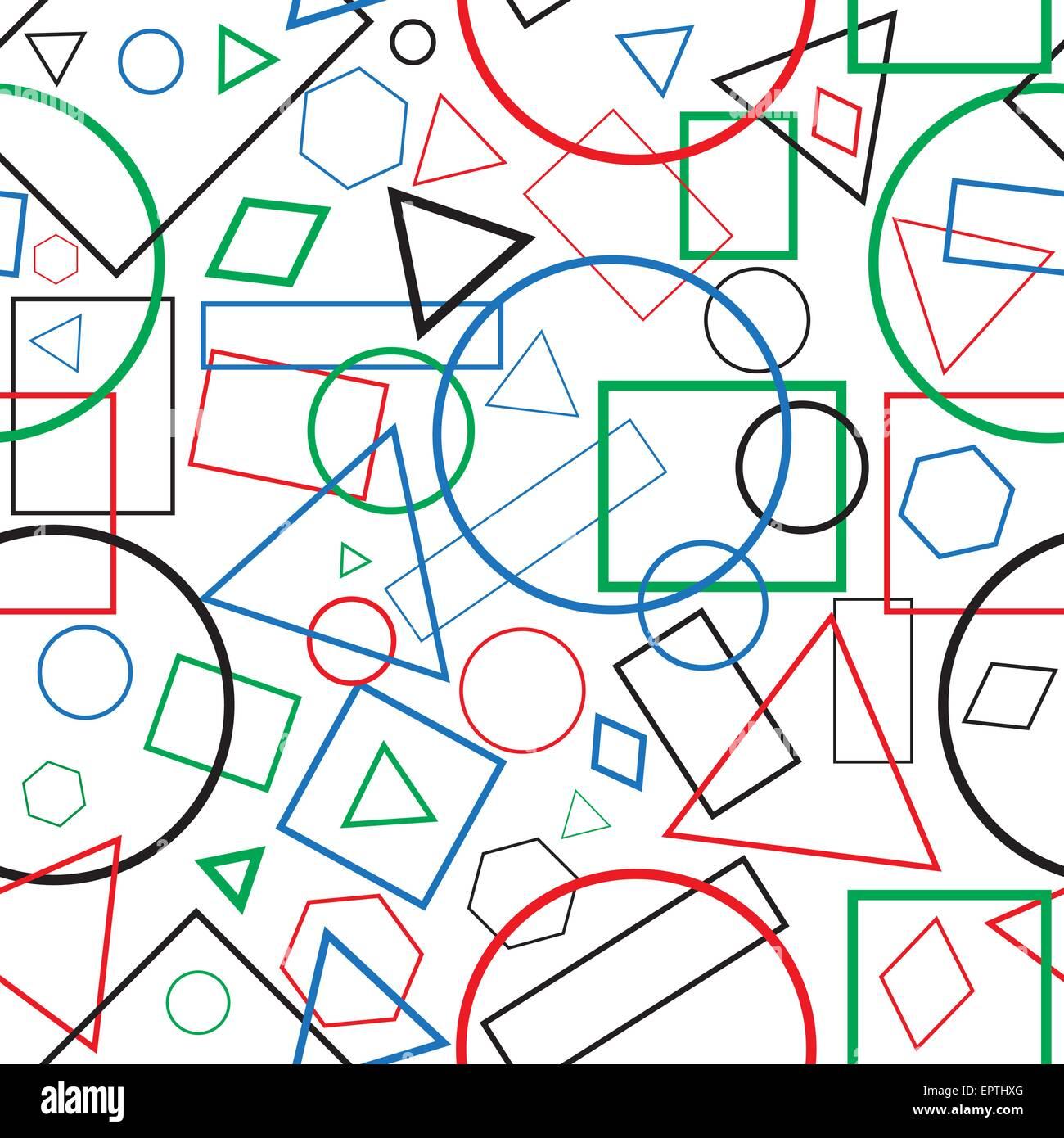 Ilustraci n perfecta figuras geom tricas de patr n para el for Papel tapiz de patron para el pasillo