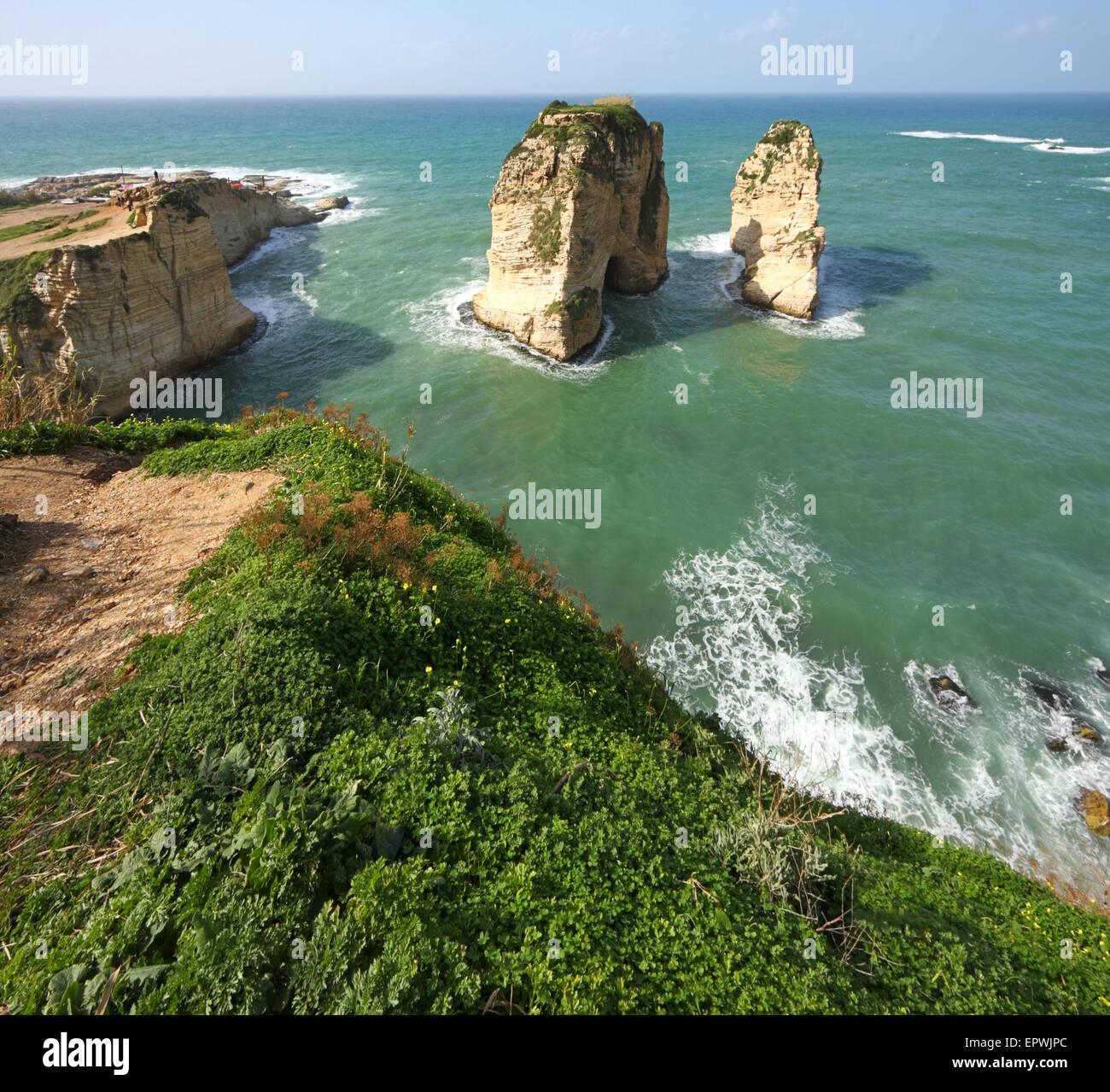 Raouche Beirut Imagen De Stock