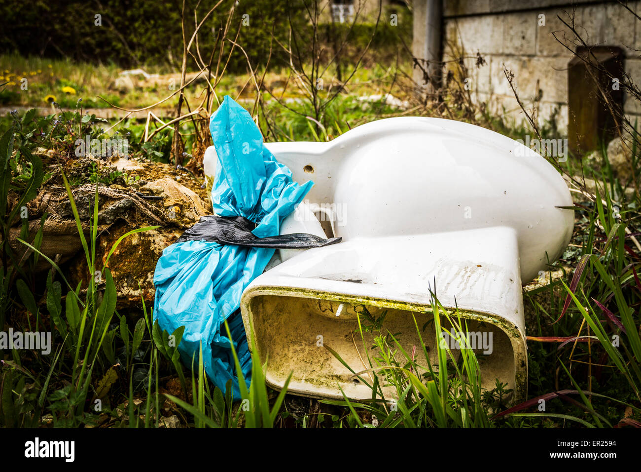 Armario de agua abandonadas Imagen De Stock