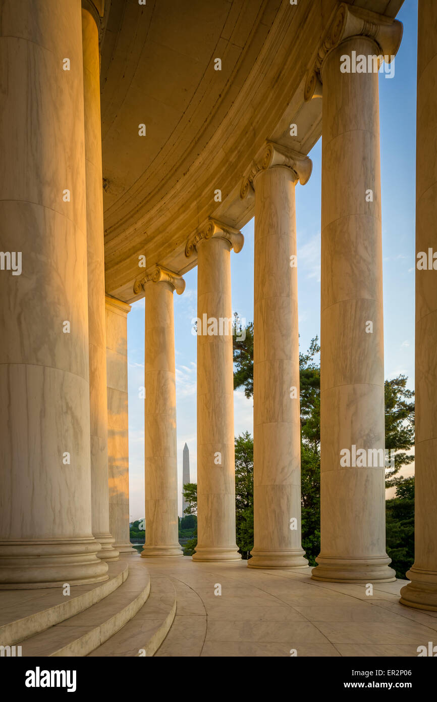 El Thomas Jefferson Memorial es un monumento conmemorativo presidencial en Washington, D.C. Imagen De Stock