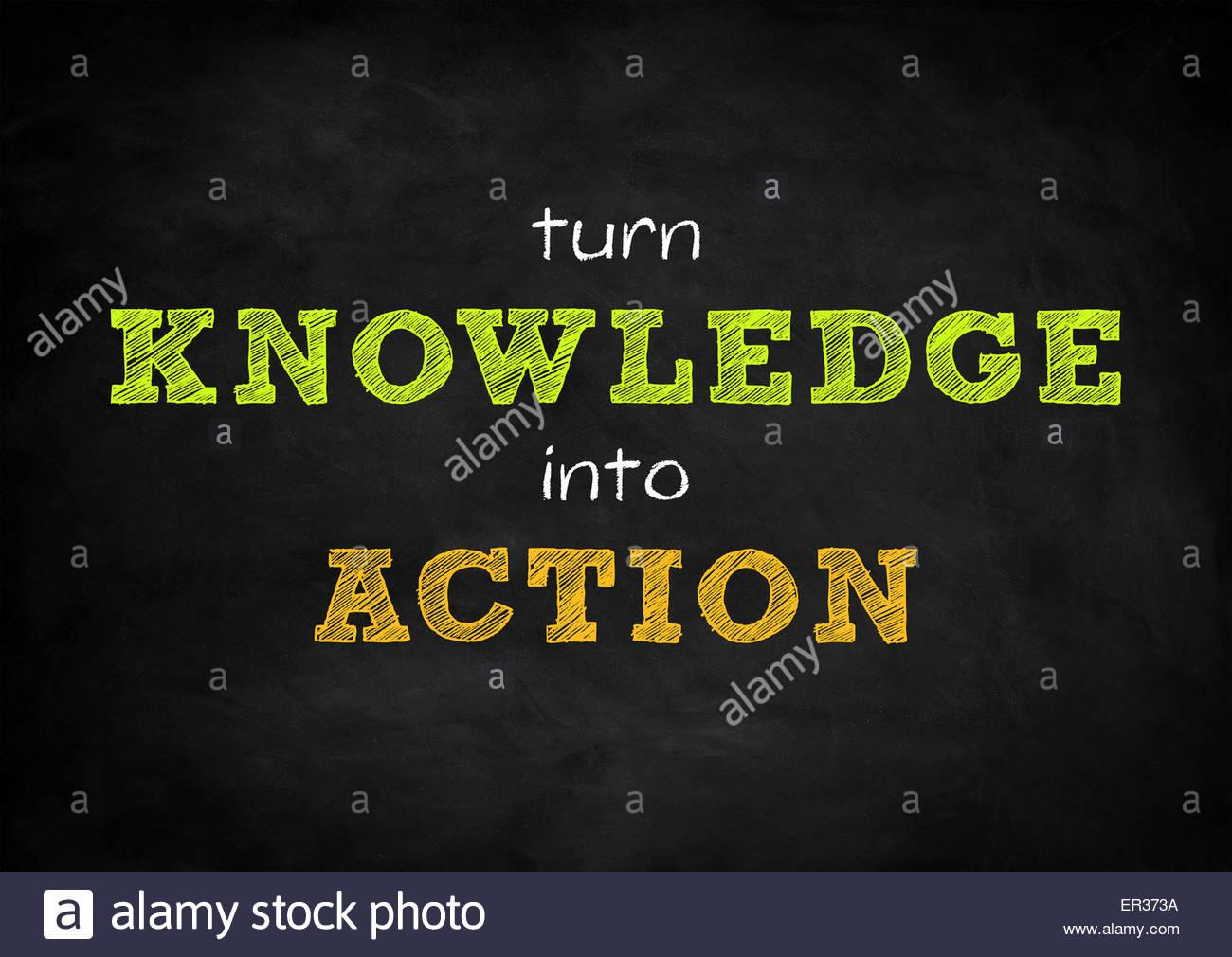 Convertir el conocimiento en acción Imagen De Stock