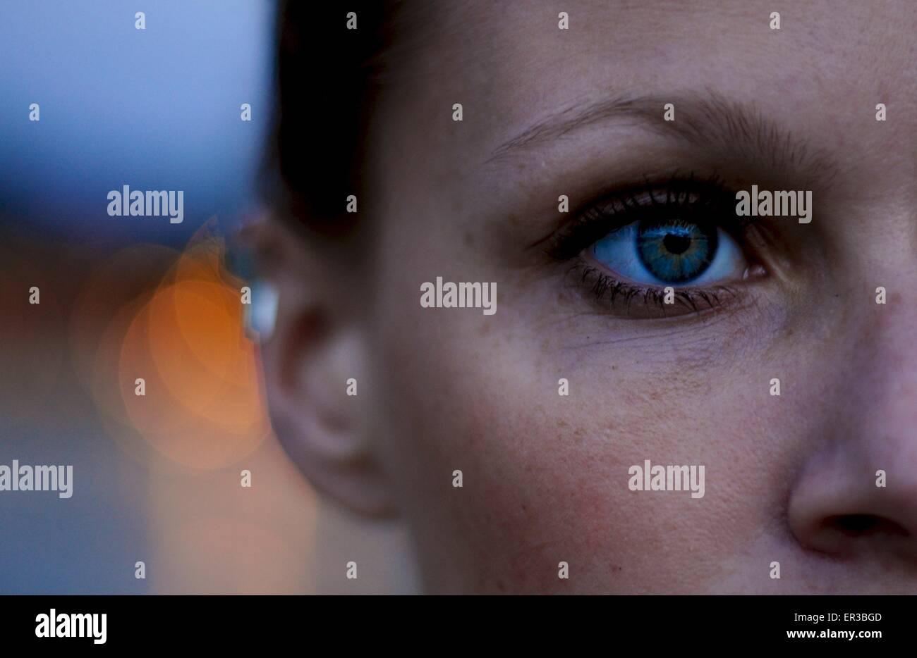 Close-up de un rostro de mujer Imagen De Stock