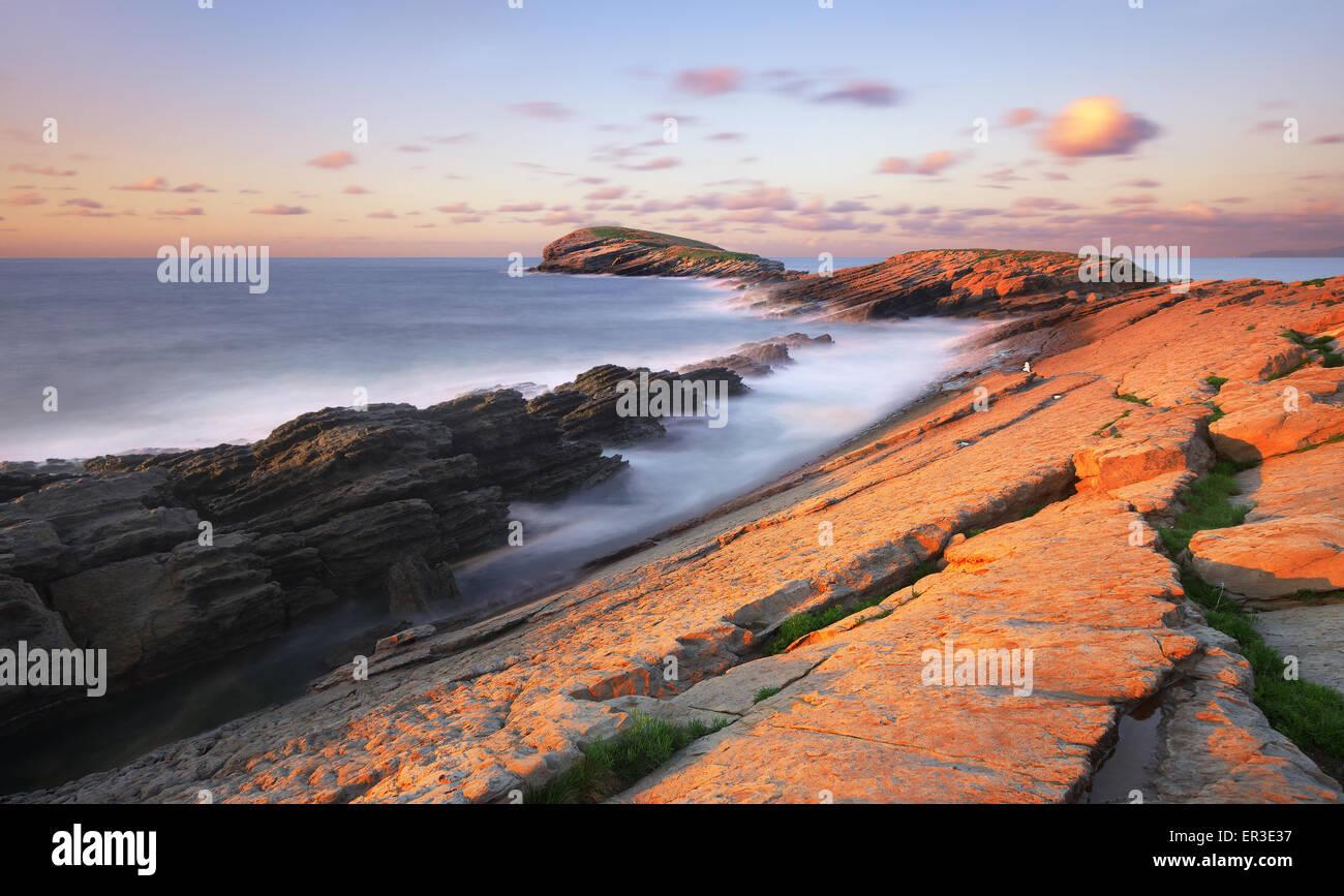 La ballena de Sonabia. Cantabria Foto de stock