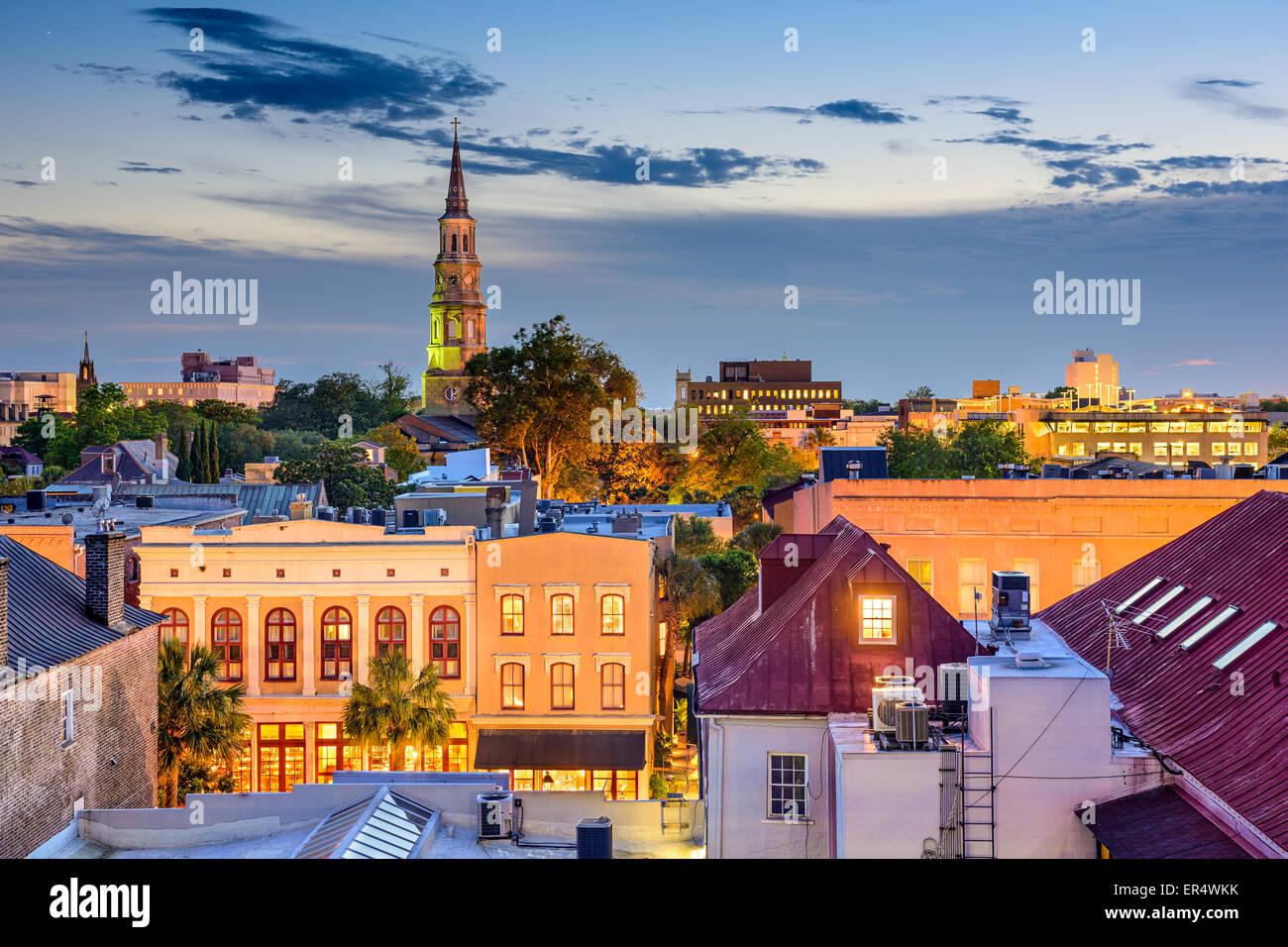 Charleston, Carolina del Sur, EE.UU., el horizonte de la ciudad. Imagen De Stock