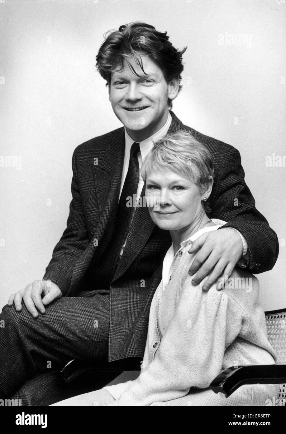 Dame Judi Dench y Kenneth Branagh marca el inicio de su temporada de Shakespeare en el Teatro de Repertorio de Birmingham. 29 de febrero de 1988 Foto de stock