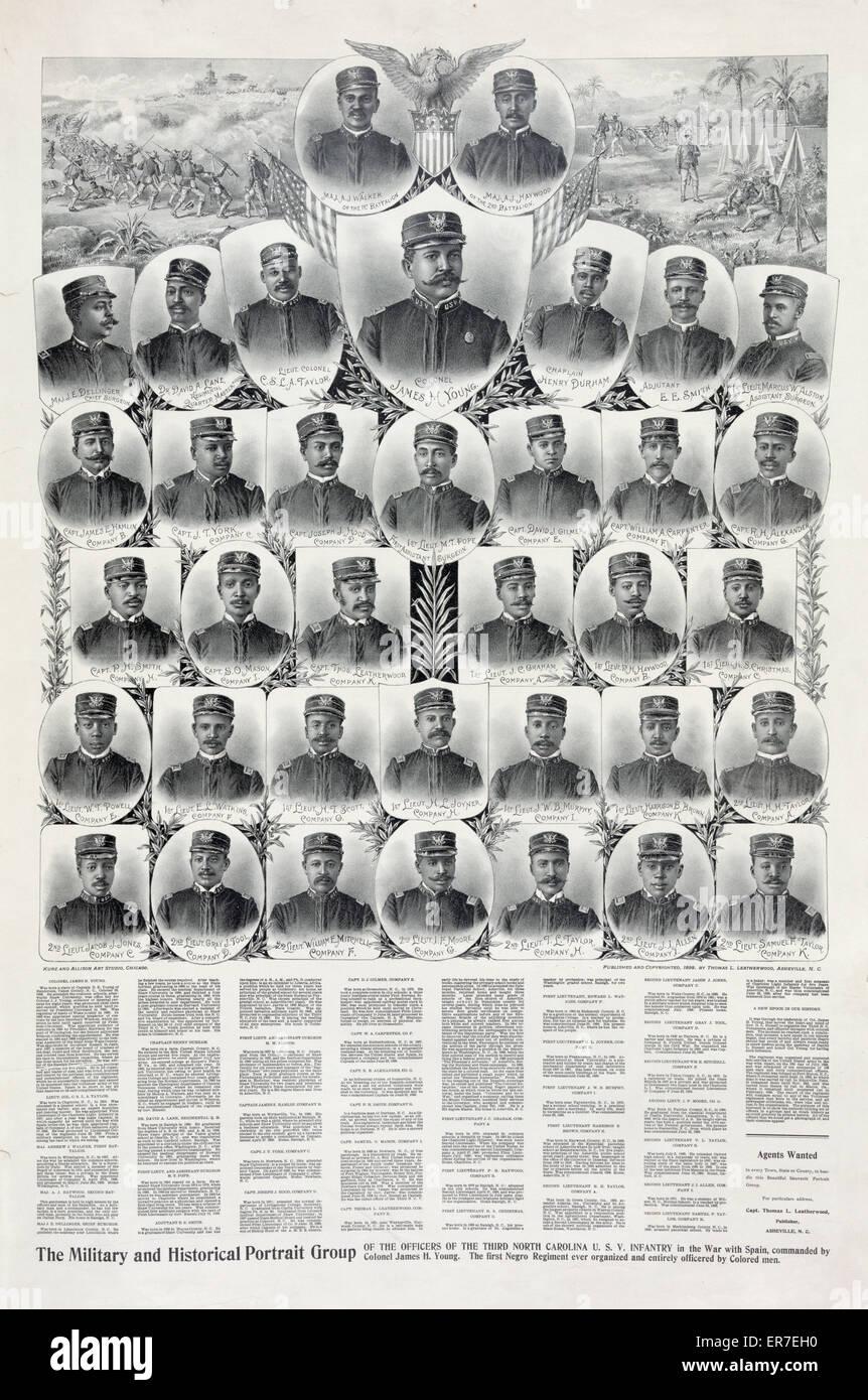 Los militares y el retrato histórico grupo. Imagen De Stock