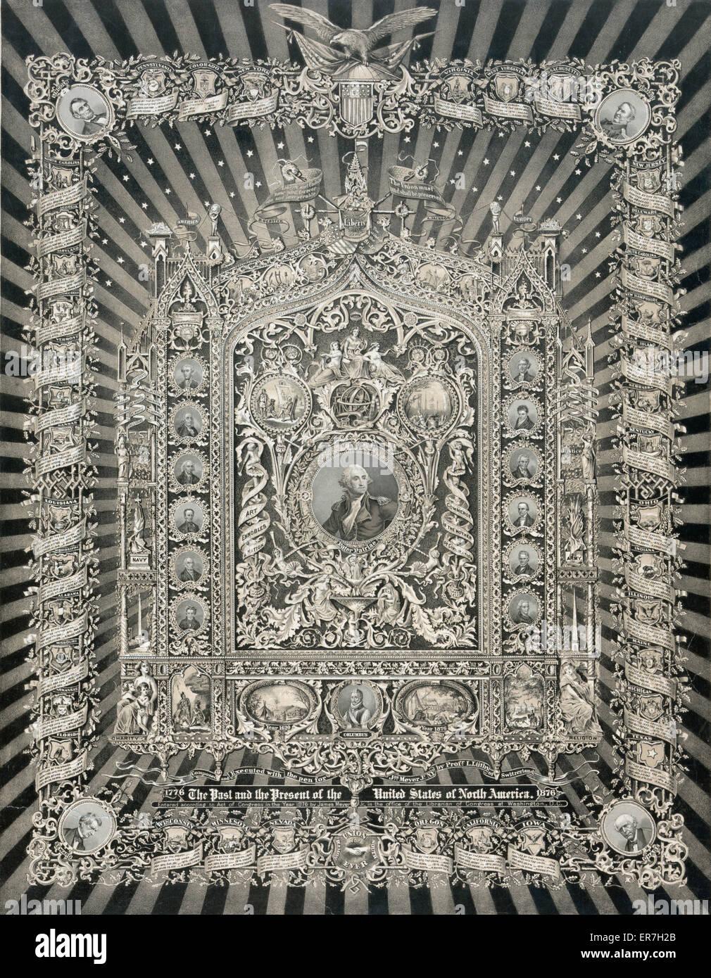 Obra maestra del arte histórico nacional fecha 1876. Imagen De Stock