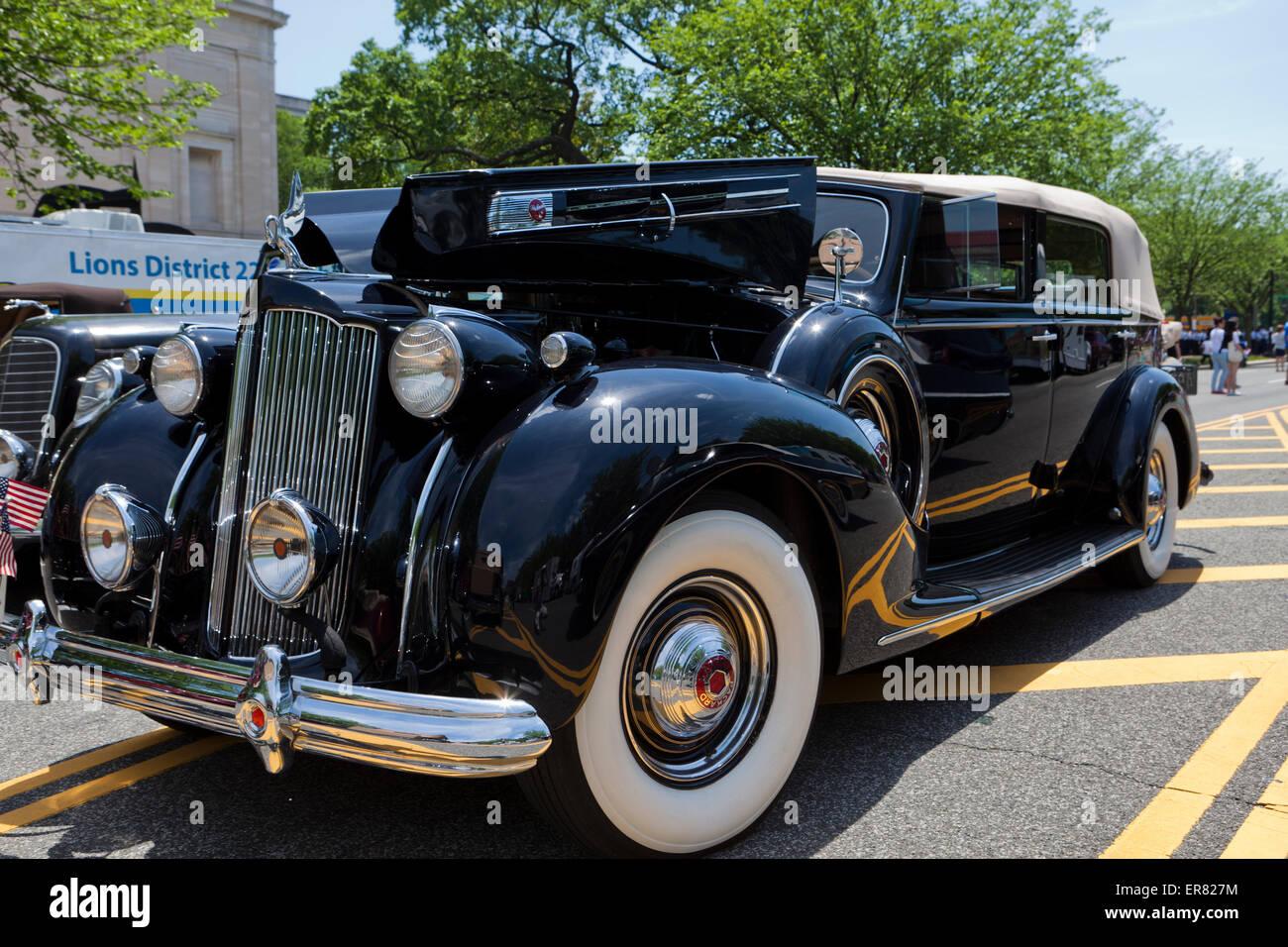 1936 Packard 120 Sedan Convertible - EE.UU. Imagen De Stock