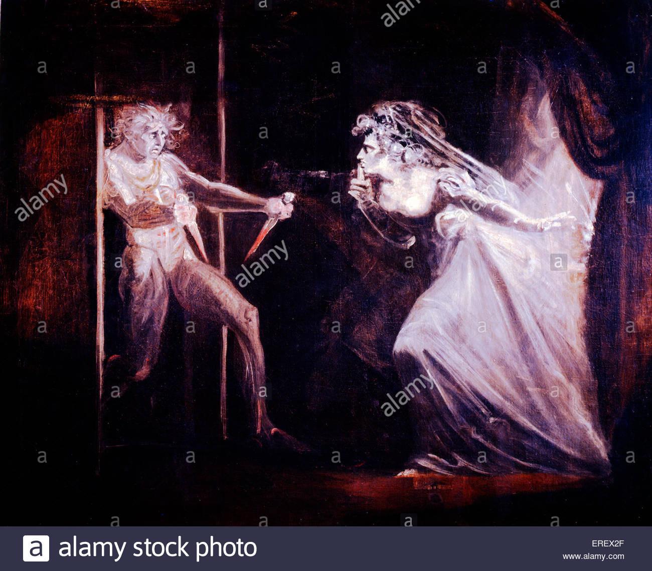 Lady Macbeth aprovechando las dagas por Henry Fuseli. Primera exhibición 1812. Óleo sobre lienzo, 1016 Imagen De Stock