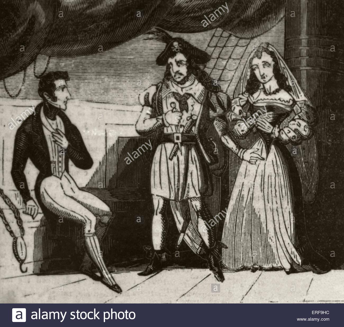 Los piratas de Cuba. Fuente: Historia de los piratas, 29 de octubre de 1836. Imagen De Stock