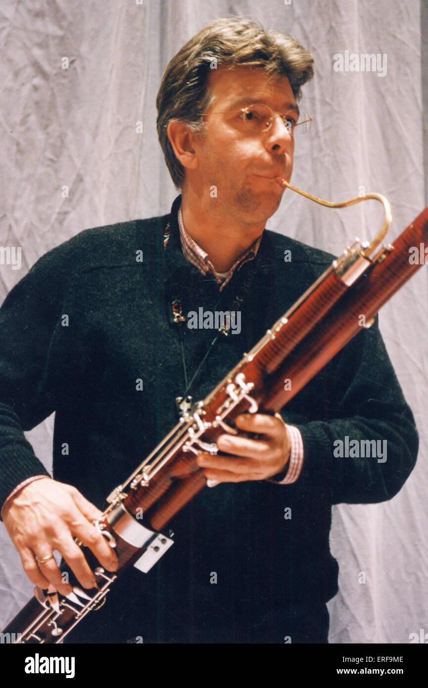 Fagotista tres cuartas partes shot (gracias a Residentie Orchestra, La Haya) Imagen De Stock