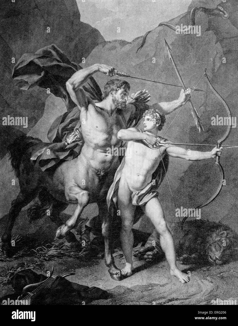 El joven Aquiles prácticas arquería con el centauro Quirón 6b67c04d75c8b
