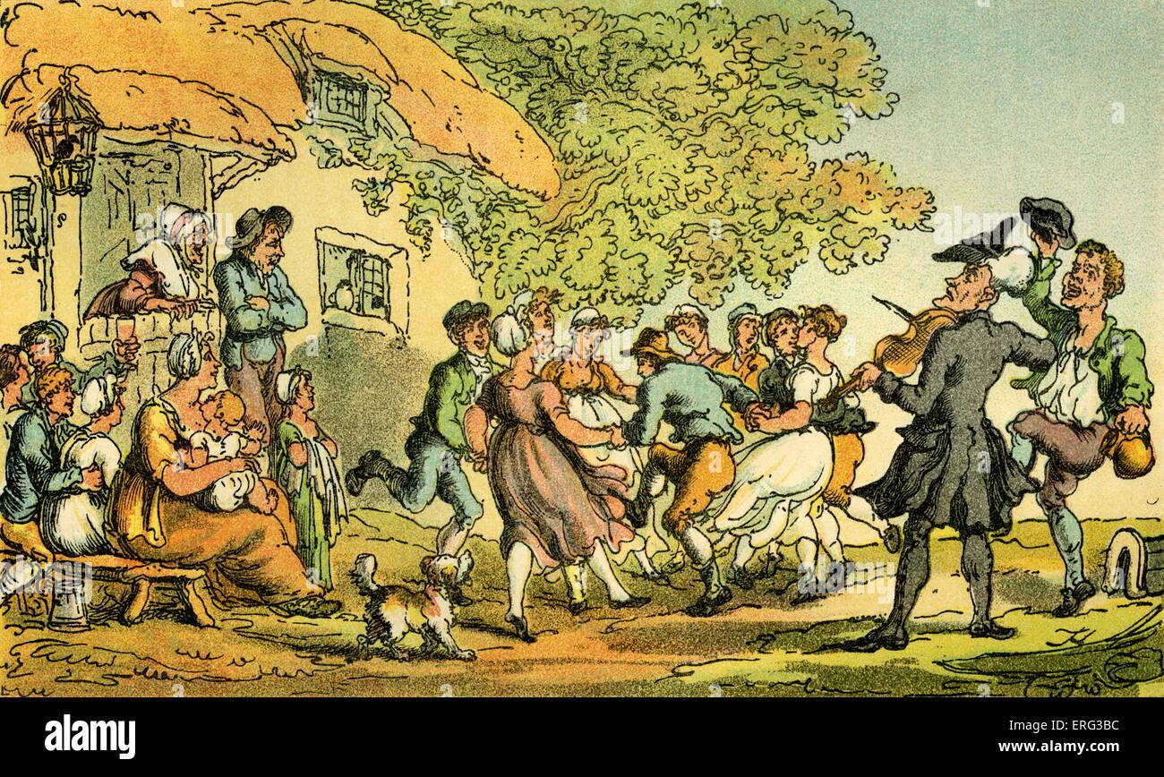 "'Dr sintaxis - deporte rural"", la ilustración de Thomas Rowlandson de 'Doctor sintaxis's Tour Imagen De Stock"