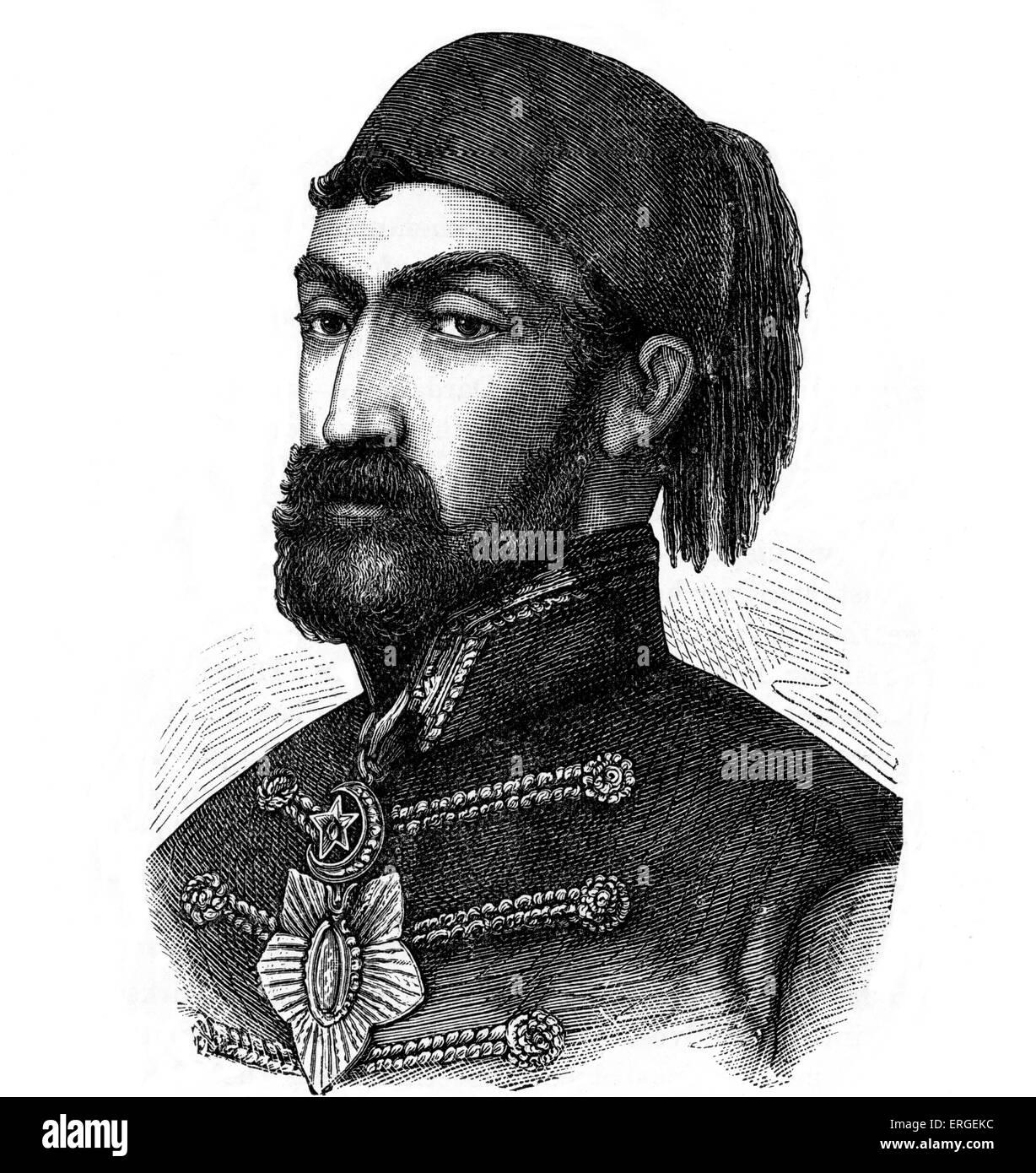 Omar Pasha Latas - otomana y gobernador general. Originalmente el serbio, más tarde convertido al Islam. Llevó a la victoria a las fuerzas Otomanas Foto de stock