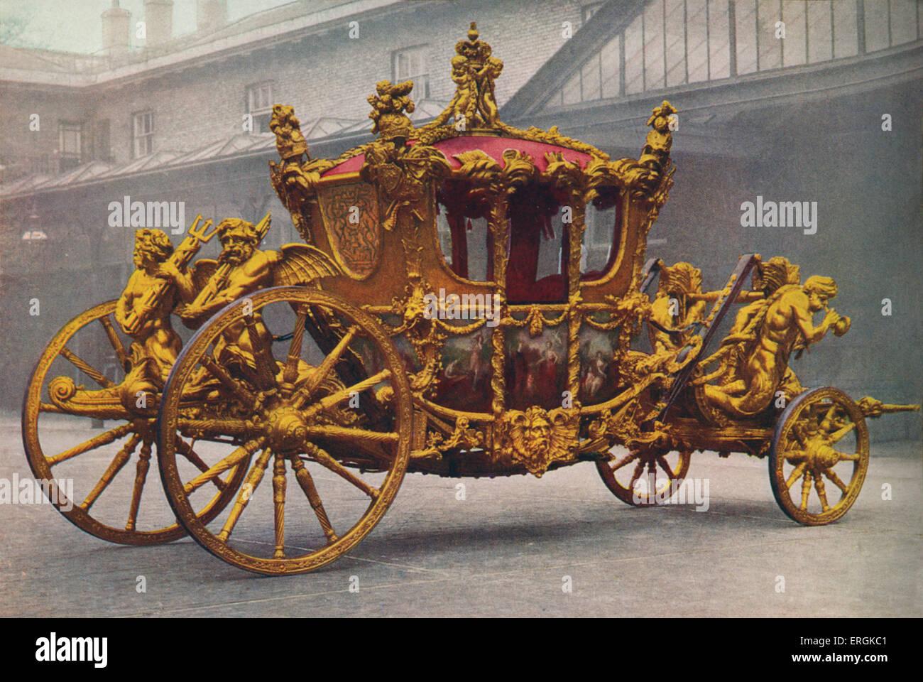 El carro del Rey con motivo de la coronación de George VI, 1936. El carro utilizado en la coronación fue Imagen De Stock