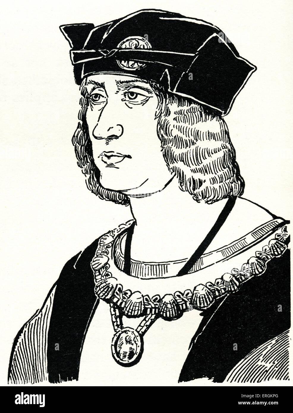 El rey Luis XII (1462 - 1515). Gobernó como rey de Francia desde 1498 a 1515 y Rey de Nápoles desde 1501 a 1504. Sobre la base de grabado de Jehen Perreal (c.1450 - 1530). Herbert Norris artista falleció 1950 - pueden requerir la autorización de los derechos de autor Foto de stock