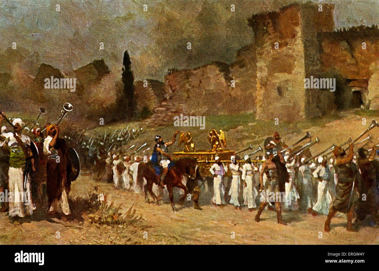 La destrucción de las murallas de Jericó - (L'Histoire Sainte). El ...