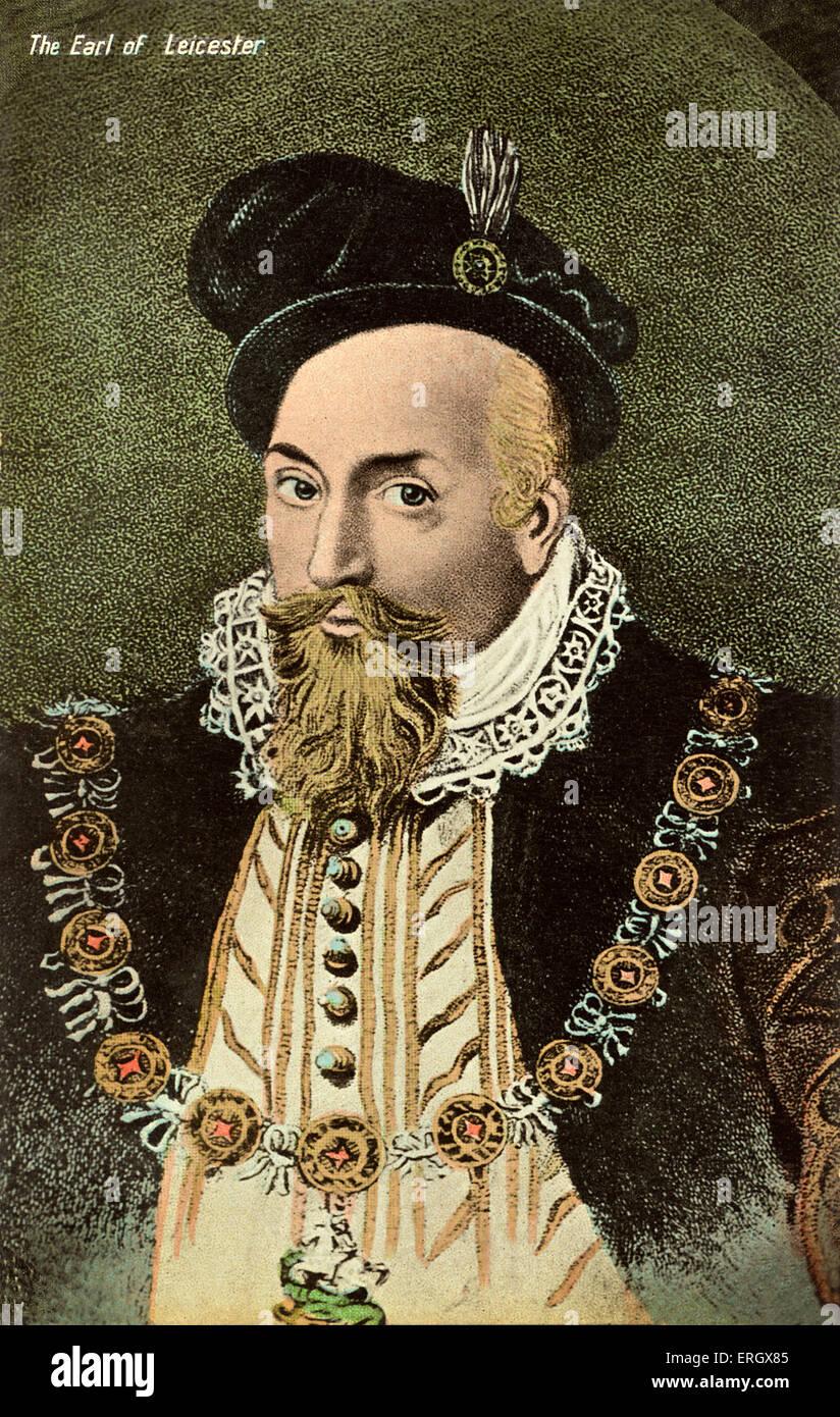 Robert Dudley, primer Conde de Leicester: Larga favorito de Isabel I de Inglaterra, el 24 de junio de 1533 - 4 de Foto de stock