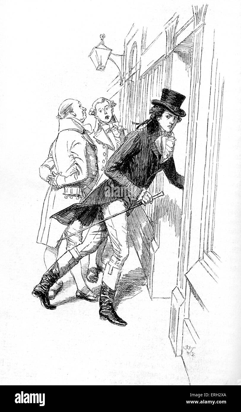 """""""Sentido y sensibilidad"""" de Jane Austen - título reza: Willoughby relata Elinor que ha entrado en Imagen De Stock"""