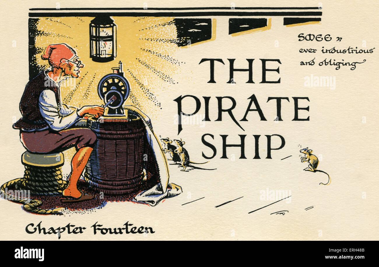 """J. M. Barrie 's 'Peter Pan'. """"Capítulo 14: El Barco Pirata - Smee, siempre diligente y solícito"""". Imagen De Stock"""