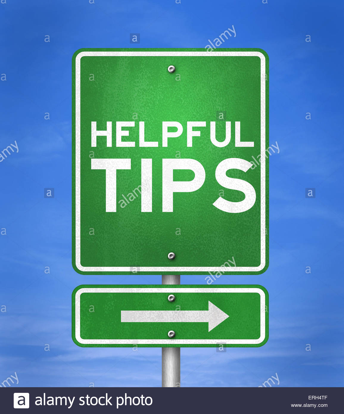 Consejos útiles - señal de carretera concepto Imagen De Stock