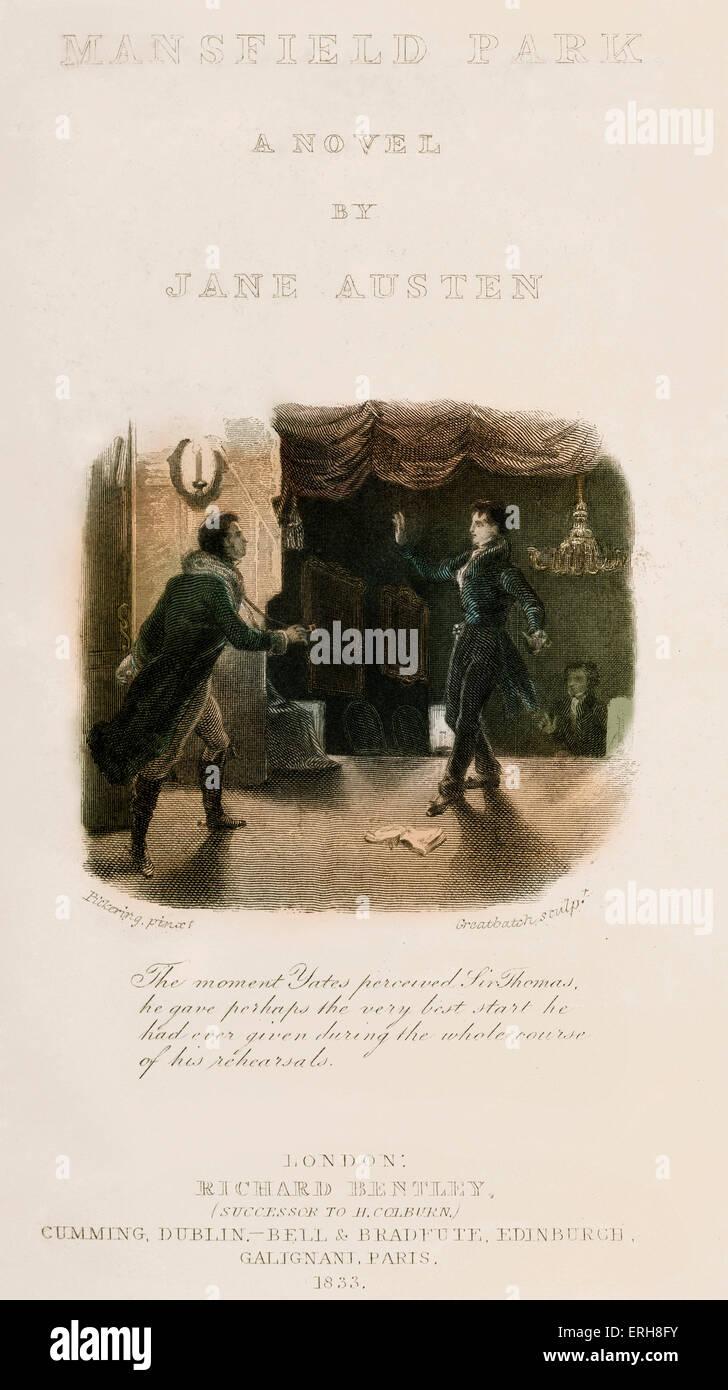 Mansfield Park de Jane Austen - frontispicio. Pie de foto: 'El momento Yates percibido Sir Thomas, dio quizás Imagen De Stock