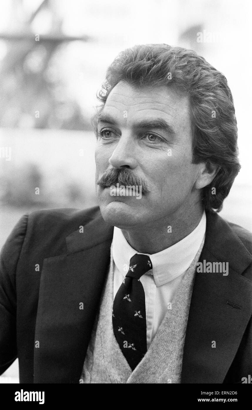 Tom Selleck, Actor, Photo-call, Londres, 2 de mayo de 1985. Imagen De Stock