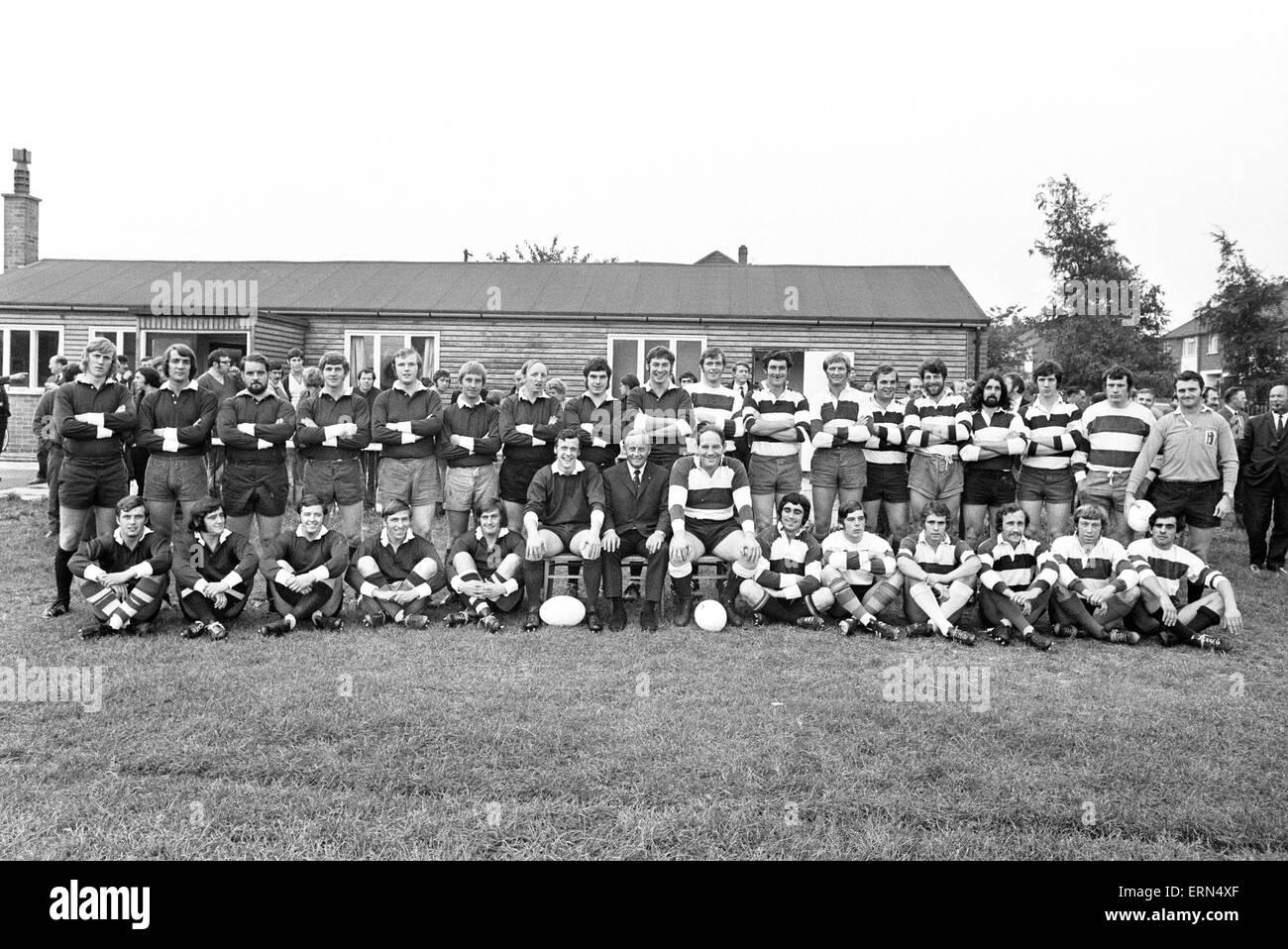Stoke Old Boys v Phil Judd 15 partido de Rugby, el 28 de septiembre de 1971 Imagen De Stock