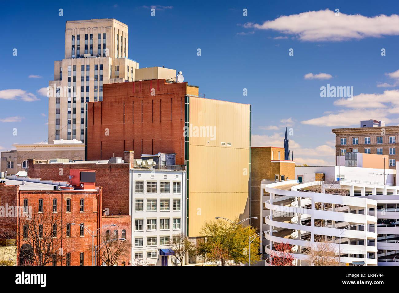 Durham, Carolina del Norte, EE.UU. el centro de ciudad. Foto de stock