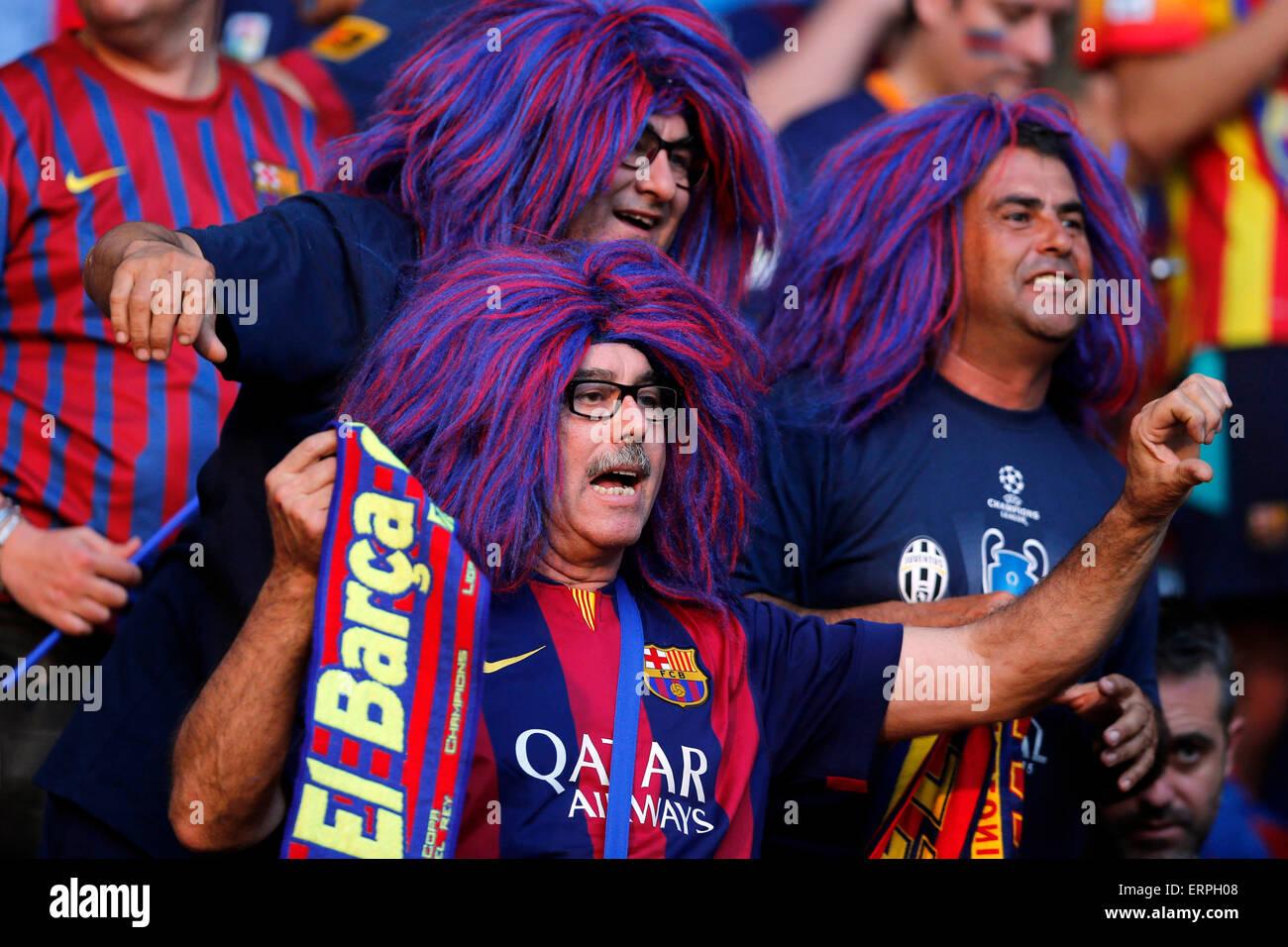 Berlín (Alemania). 06 de junio de 2015. Fútbol / Fútbol: La Liga de Campeones de la Uefa - Final Imagen De Stock