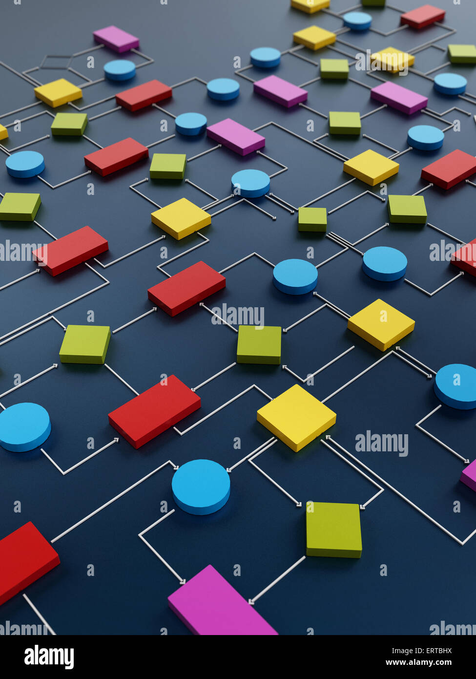 Diagrama de software Imagen De Stock
