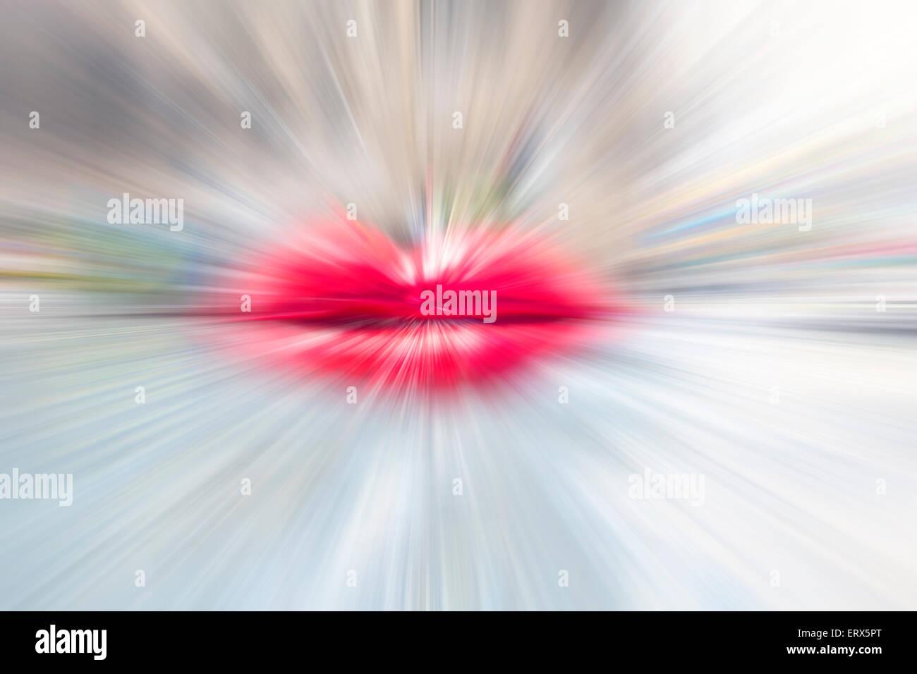 El movimiento de los labios borrosa, fondo abstracto. Foto de stock