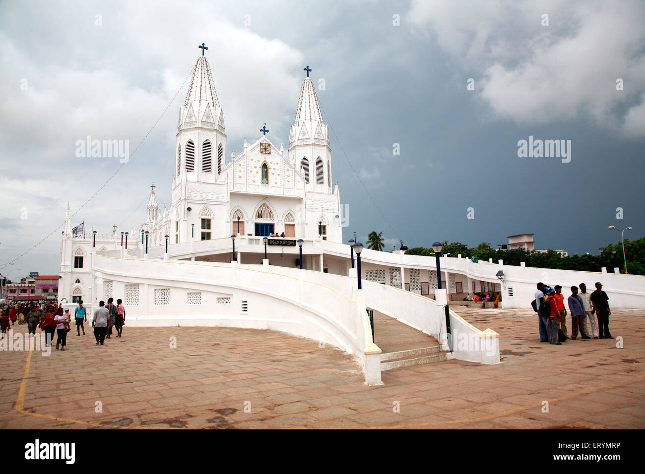 Iglesia de Nuestra Señora de la buena salud llamado nuestra señora de vailankanni ; Vailankanni Nagappattinam Velanganni ; Foto de stock
