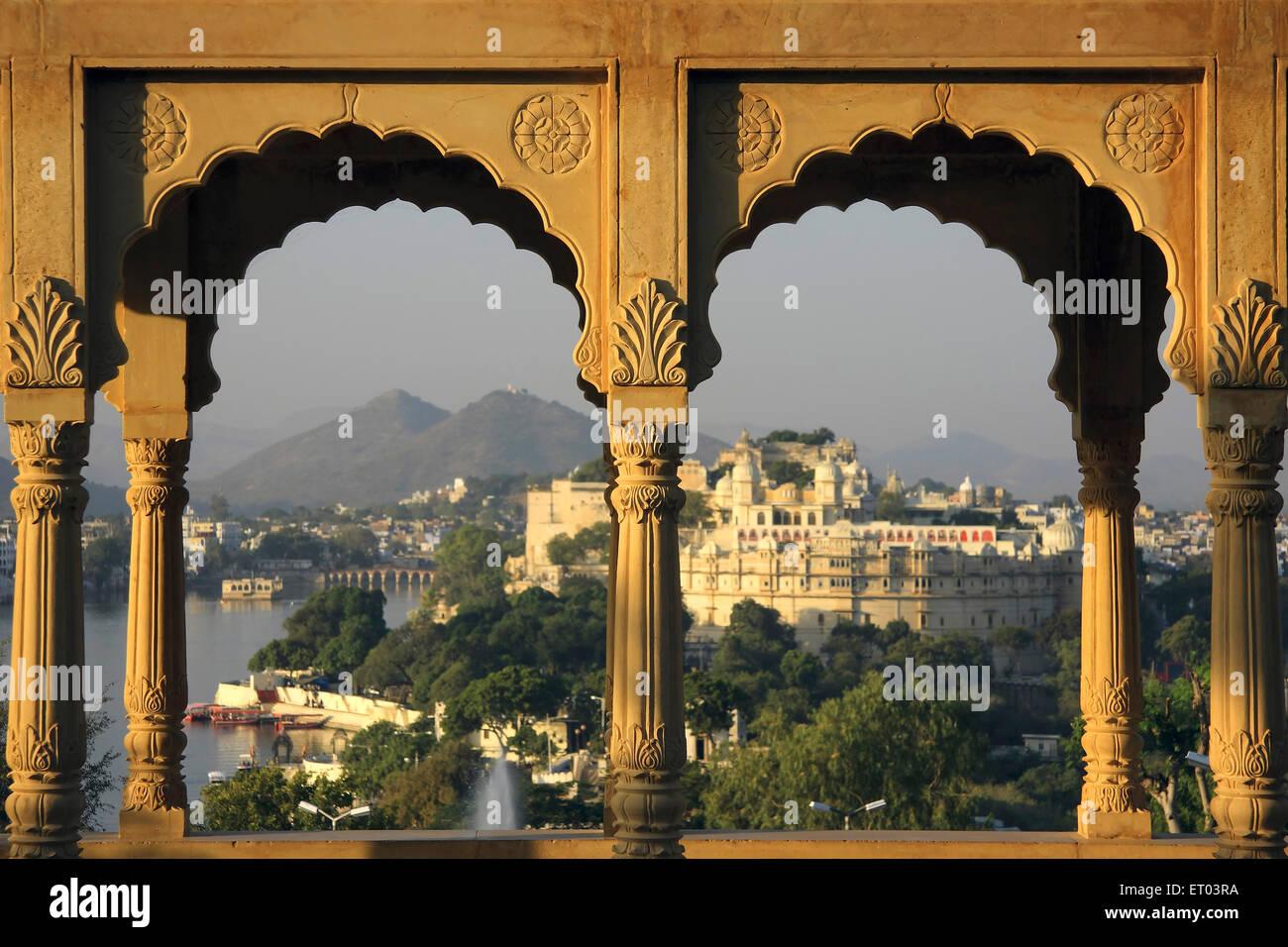 Arquitectura de Rajasthani Udaipur ; ; ; Rajasthan India Imagen De Stock