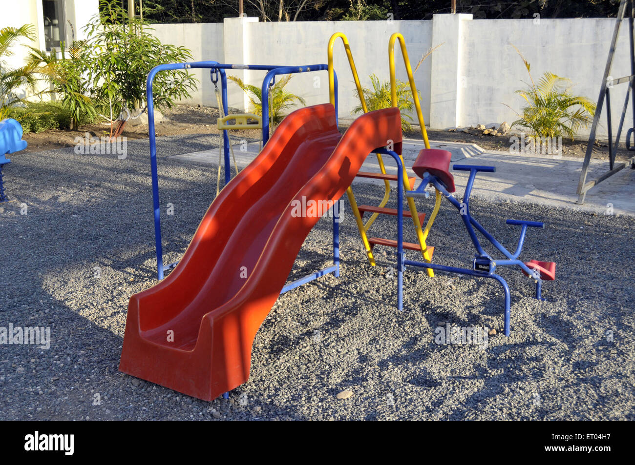 Diapositiva de playground Gir en Gujarat, India Imagen De Stock