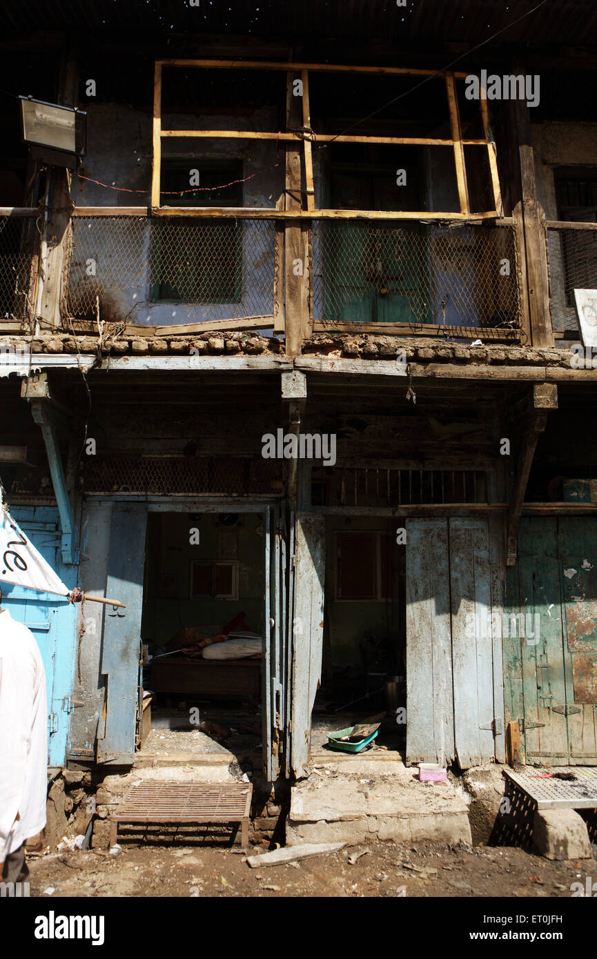 Sitio de la explosión que sacudió la ciudad textil de Malegaon ; ; Maharashtra India Foto de stock