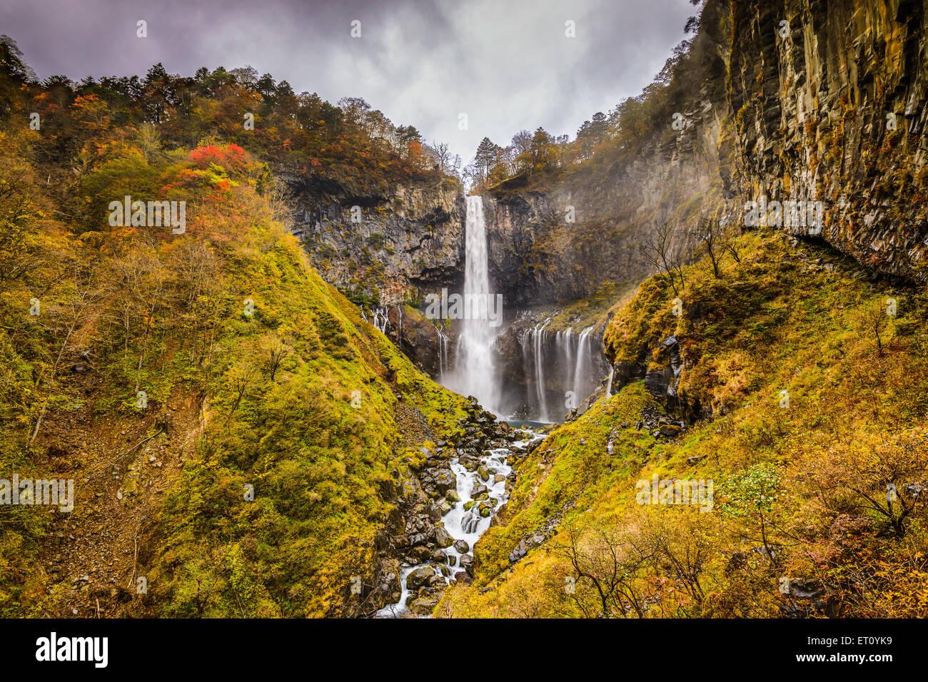 Nikko, Japón a cataratas Kegon. Imagen De Stock