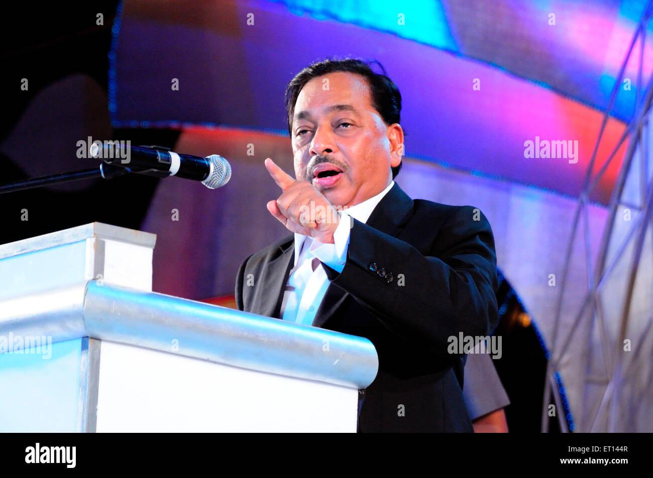 Político Narayan Rane líder del Partido del Congreso NO SEÑOR Imagen De Stock