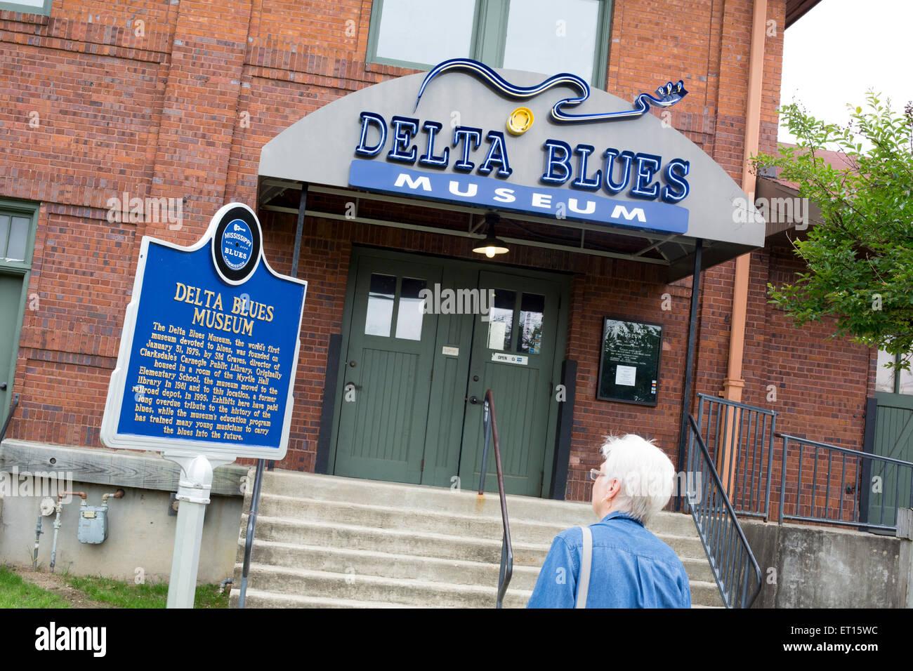Clarksdale, Mississippi - El Delta Blues Museum. Imagen De Stock
