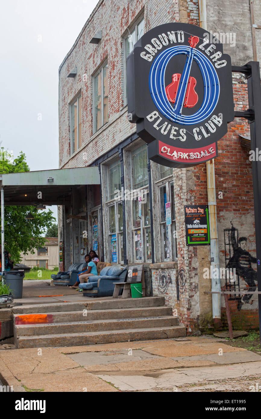 Clarksdale, Mississippi - Ground Zero Blues Club. Imagen De Stock