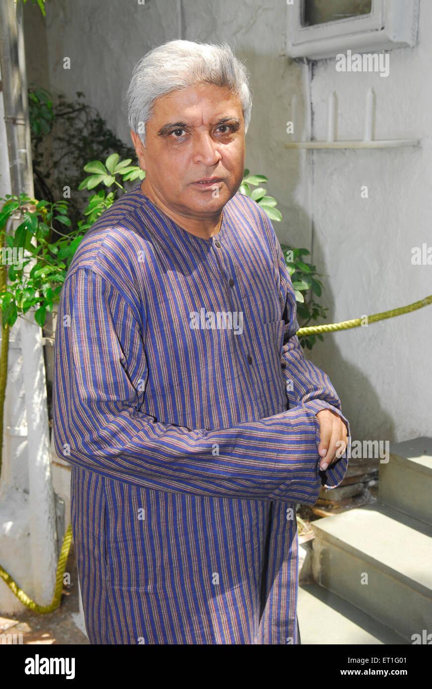 Letrista, poeta, guionista javed akhtar ; La India No, señor Imagen De Stock