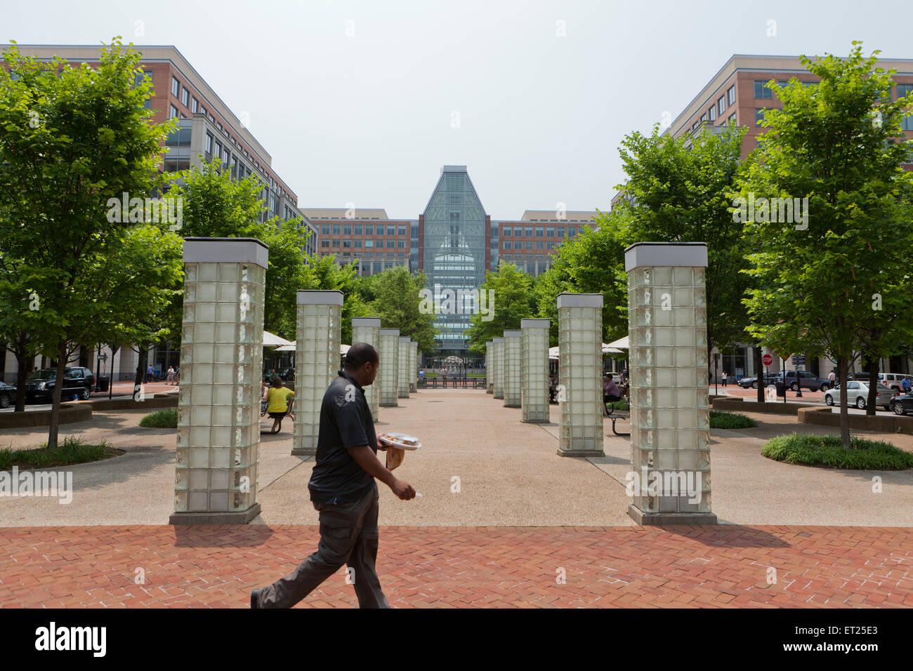 Oficina de Marcas y Patentes de Estados Unidos, Alexandria, Virginia, EE.UU. Foto de stock