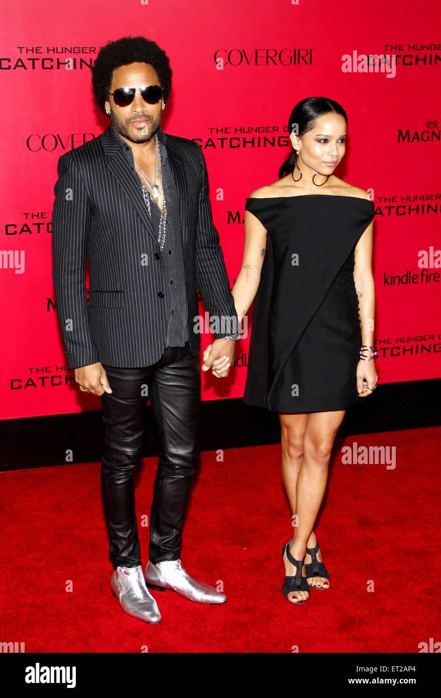 Lenny Kravitz Y Zoe Kravitz En Los Angeles Estreno De Los Juegos