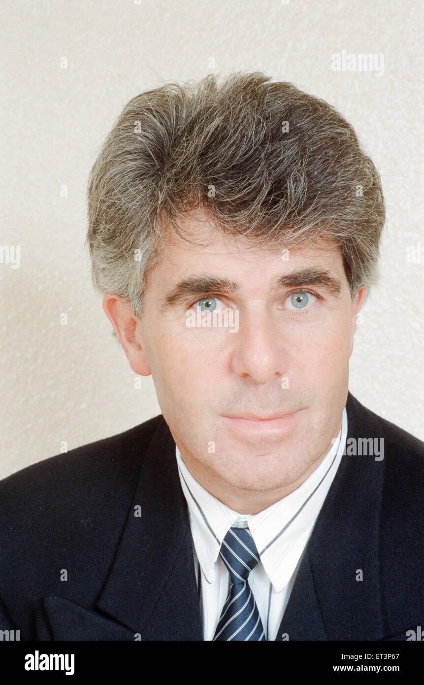 Max Clifford, el publicista, el 31 de marzo de 1989. Imagen De Stock