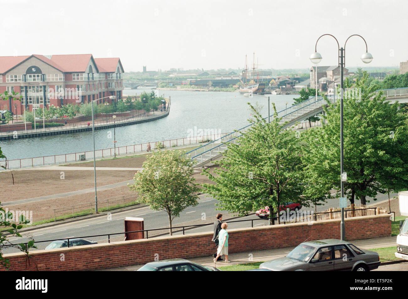 Stockton Riverside Desarrollo, 1 de junio de 1995. Foto de stock