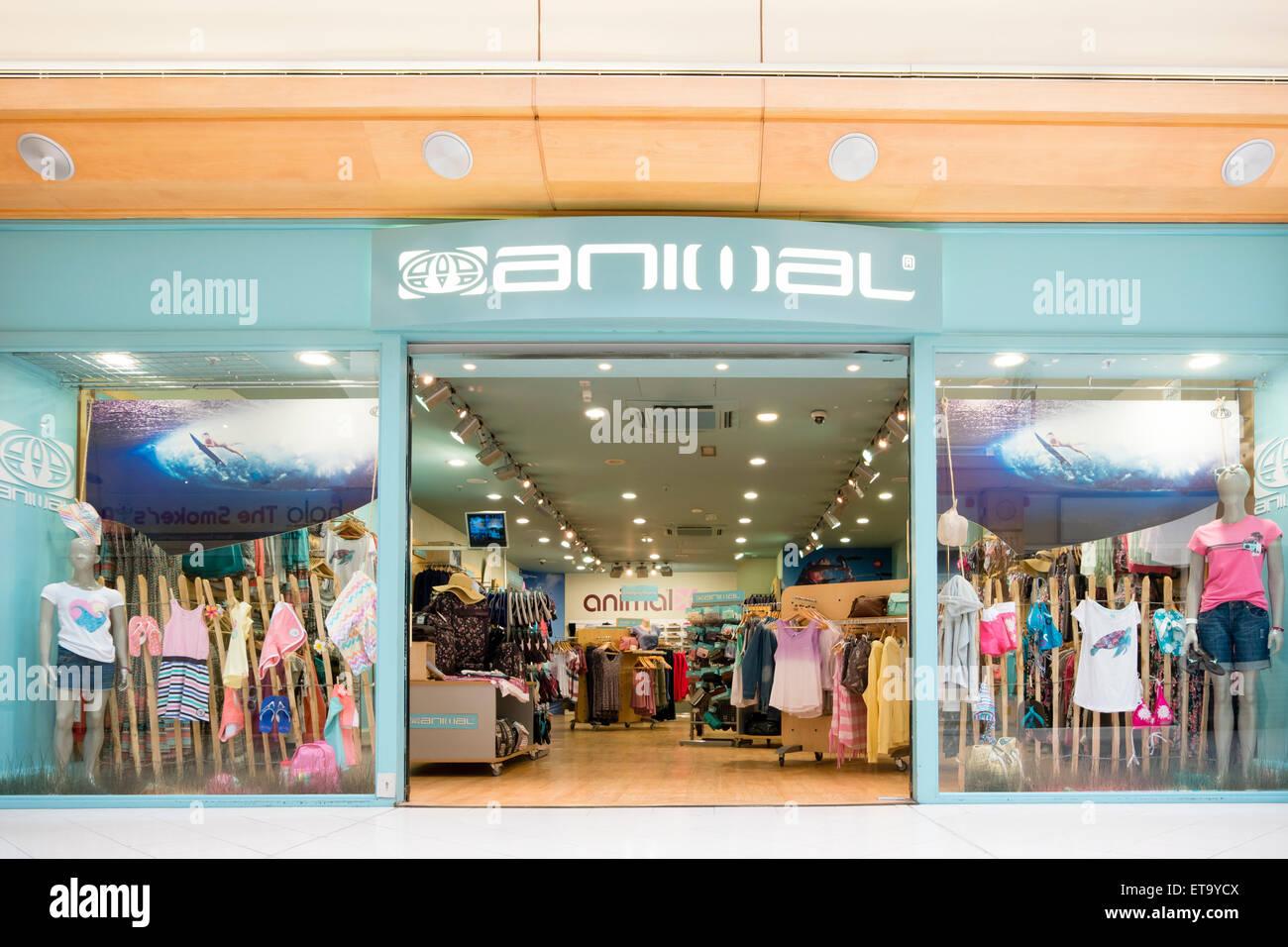 Tienda de ropa Animal, Reino Unido. Imagen De Stock
