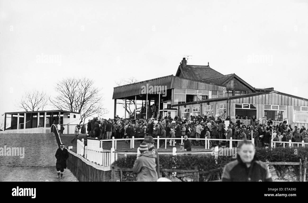 La andanada en Sedgefield Hipódromo 24 de enero de 1978 Imagen De Stock